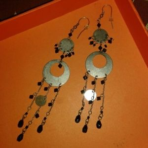 Jewelry - Pretty vintage long jeweled earrings