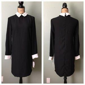 NWT Victoria Beckham Target black collared dress!