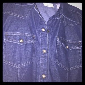 NWOT Liz Claiborne Jean button up shirt
