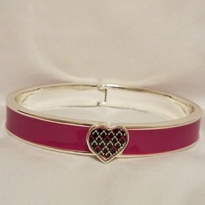 Vera Bradley - Canterbury Magenta Heart Bangle