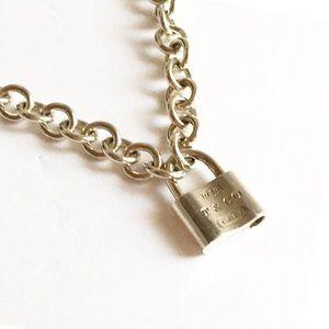 Authentic Tiffany 1837 Padlock Clasp Necklace