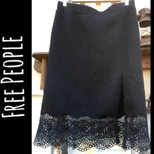 LACEY NWT Free People Quilted Pull-On Slit Skirt