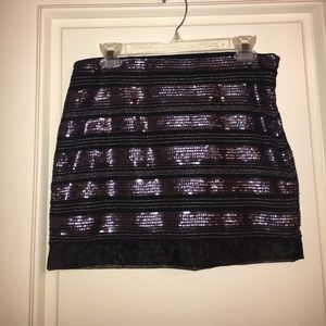 Express Bedazzled Mini Skirt