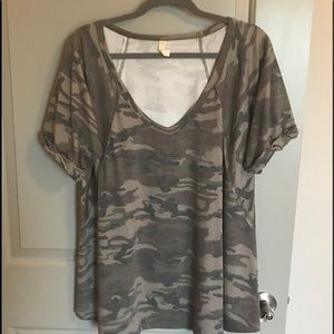Wish List M/L Camo T Shirt purchased from Botique