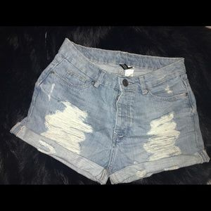 H&M Distressed Shorts