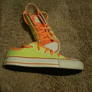 Neon Double colored Converse Sneakers