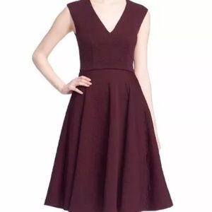 Jacquard Fit & Flare Dress TED BAKER Size  10