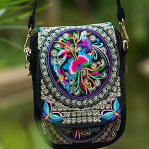 Handbags - Small Vintage Boho Embroidery Crossbody Handbag