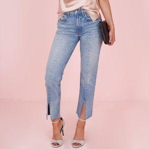 NWT GRLFRND Cheryl Side Split Jeans in Last Dance