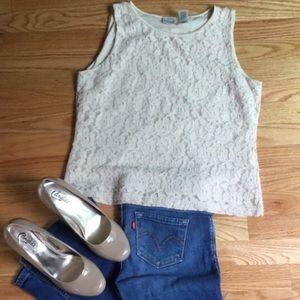 EMMA JAMES: Dressy Lace Tank