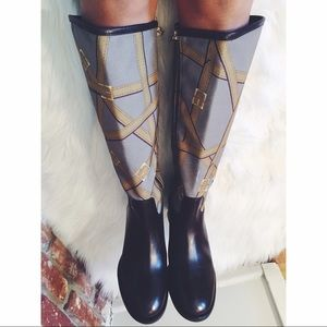 Tory Burch Equestrian Buckle Leather Boots 9