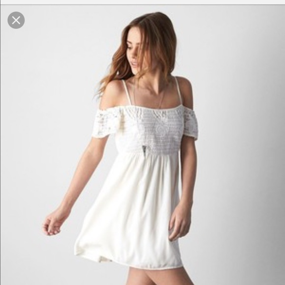 American Eagle Outfitters Dresses Ae Off The Shoulder Crochet