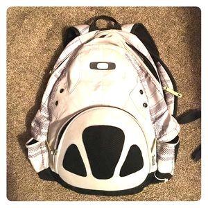 Light gray/ silver Oakley backpack 