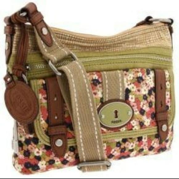 Fossil Handbags - Fossil MADDOX Floral Fabric Crossbody Bag Handbag