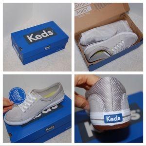 Keds Grey Ortholite Slip On Sneaker 8.5 NIB