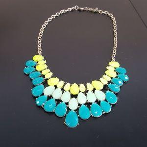 Three tone jeweled necklace