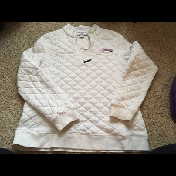 Vineyard Vines Tops Quilted Shep Shirt White Large