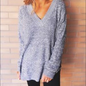 Sweaters - V-neck Sweater Tunic