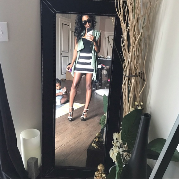 H&M Skirts - h & m mini bulk tan striped skirt // U.K. 4 small