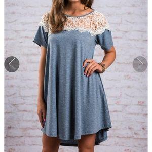 Dresses & Skirts - Wedgewood Lace Shirt Dress