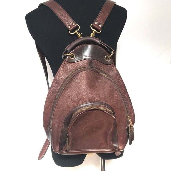 Vintage Handbags - Vintage 90's leather backpack