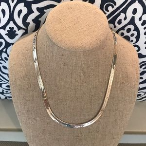 "Jewelry - Sterling silver serpentine necklace. 18"" long"