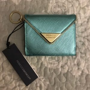 "NWT Rebecca Minkoff""Molly Metro"" Turquoise Wallet"