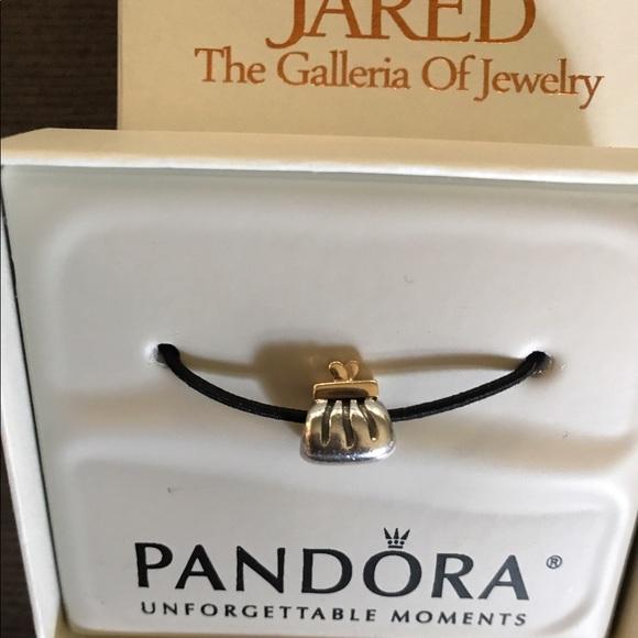 17f4aecaa Pandora silver and gold clutch charm. M_596b75dabf6df580bc000c0b