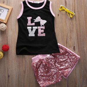 Other - NEW OUTFIT TANK TOP 5T NEW SPARKLE LOVE PINK