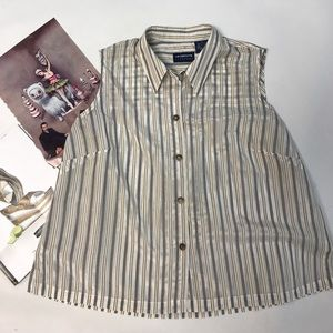 Classic Striped Blouse NWOT