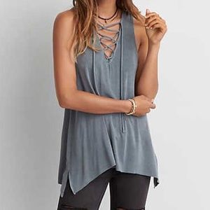 AE Soft & Sexy Lace-Up Jegging Tank
