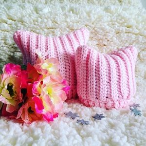 Other - Soft Baby kitty cat beanies