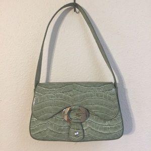NWOT Guess Green Snakeskin Mini Shoulder Bag