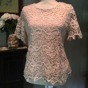  Crochet Lace Top with Matching Shell