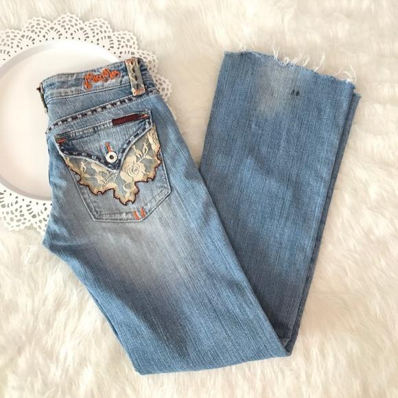 70 off miss me denim miss me jeans ��� lace trim size 26