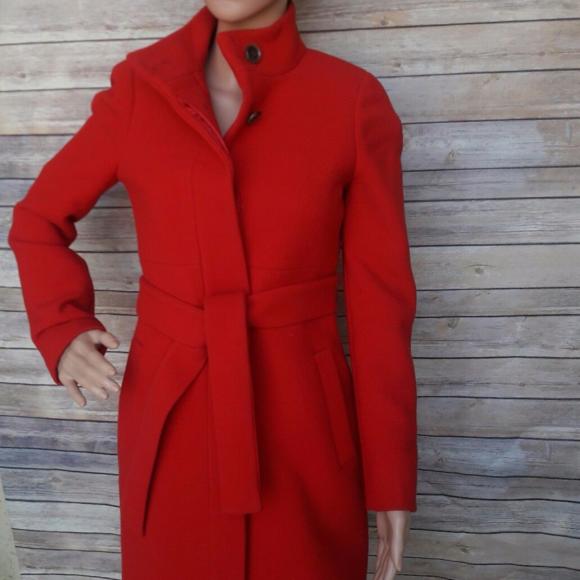 585e18a8 J. Crew Jackets & Coats | J Crew Double Cloth Womens Red Coat Size 0 ...