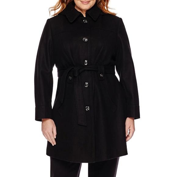 5f7d5f0f024b7 Liz Claiborne Jackets   Blazers - Liz Claiborne Black Wool Trench Coat Size  XL