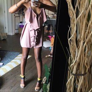 Dresses - Mauve purple ruffled dress // Small