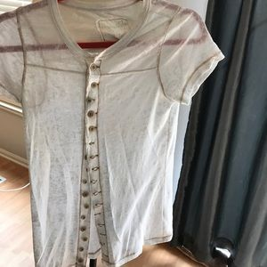 FREE PEOPL We the Free t shirt white size M