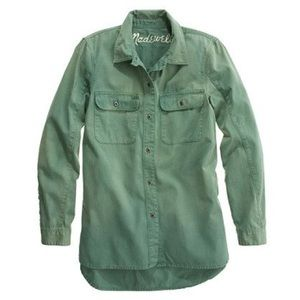 Madewell Green Tomboy Workshirt jacket