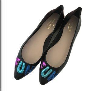 "NWT Kate Spade Elliot ""FUN"" Flats Size 8"
