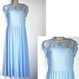 Dresses & Skirts - Vtg. Lt. Blue Formal Dress