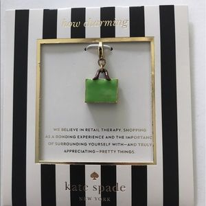 NWT Kate Spade Shopping Bag Enamel Charm