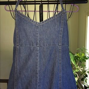 Denim spaghetti strap sundress Old Navy Sz 12