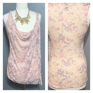 FREE PEOPLE Lightweight FLORAL Wrap Top M Medium