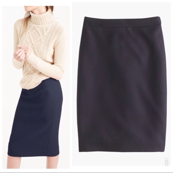 4de41315e4 J. Crew Skirts | Jcrew No2 Pencil Skirt In Doubleserge Wool 12t ...