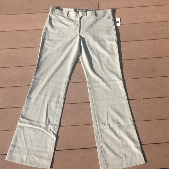 9e6bede78d3 GAP Modern Boot light Grey gray Trouser pants 10R