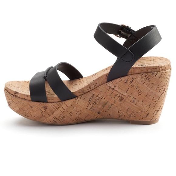 Sonoma Shoes   Sonoma Black Cork Wedge