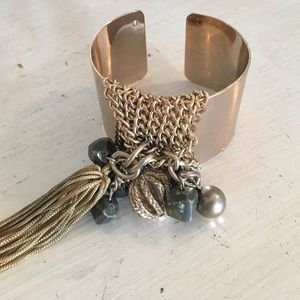 Jewelry - Chain beaded cuff