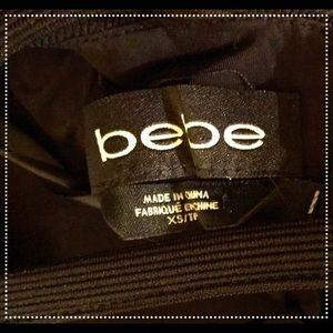 Bebe classic bodycon black cocktail dress!